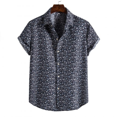 Shit Shirt - Navy Floral Patterned Shirt