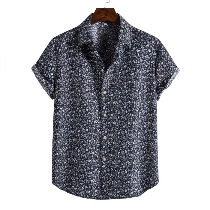 Shit Shirt - Navy Floral Patterned Shirt