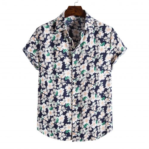 Shit Shirt - Blue Flowery Hawaiian Shirt