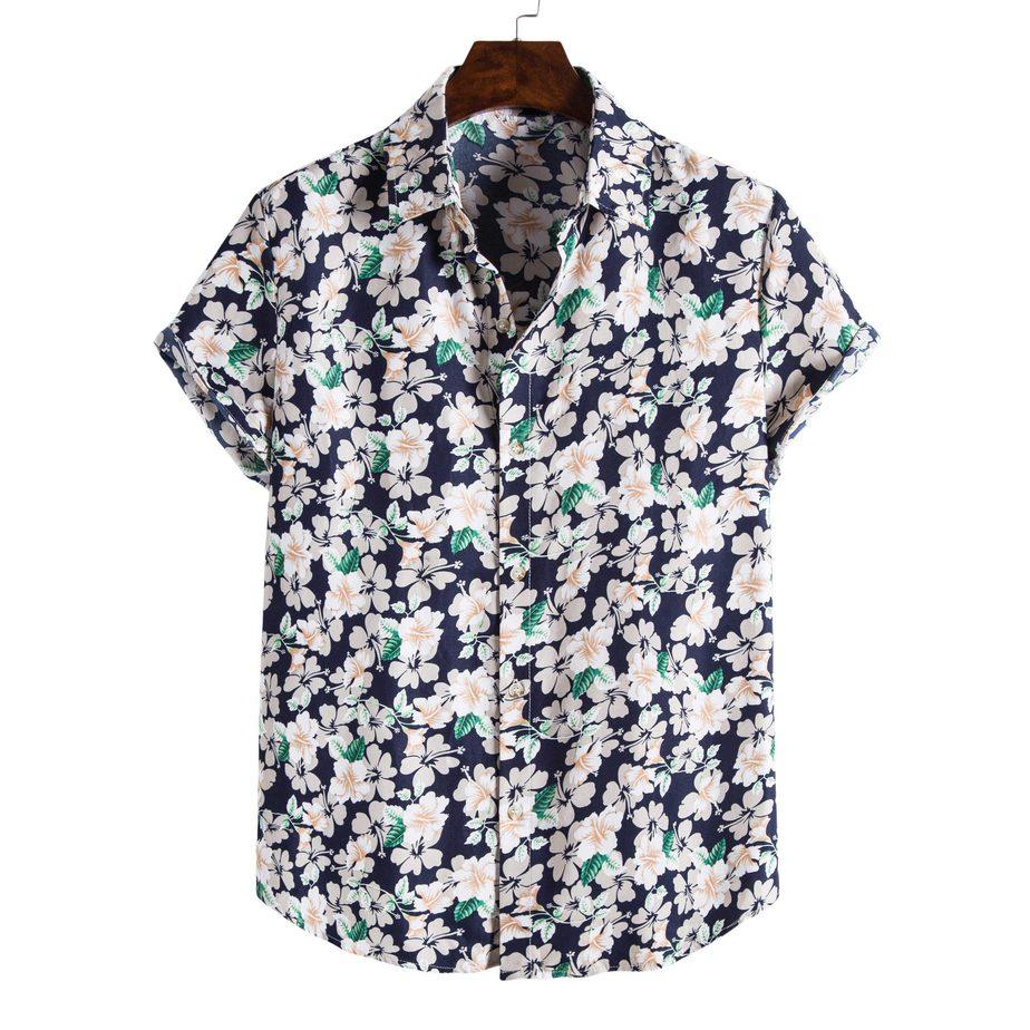 Shit Shirt - Blue Flowery Hawaiian Shirt