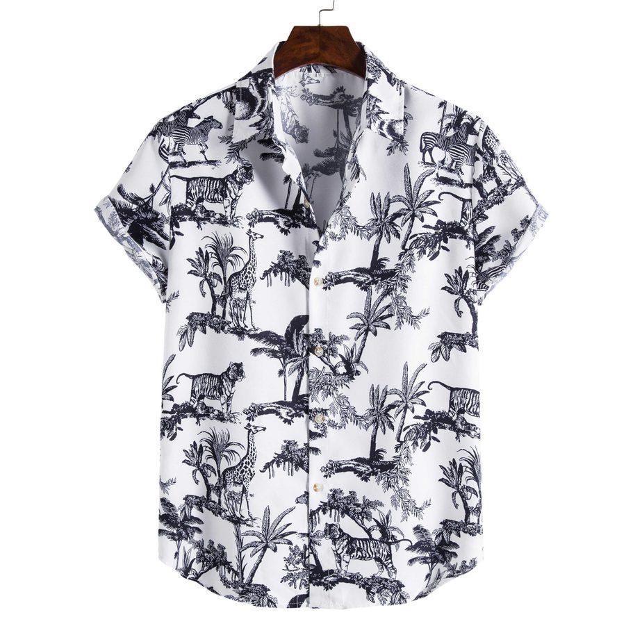 Shit Shirt - White Animal Patterned Shirt